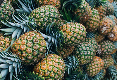 A pile of Pineapples