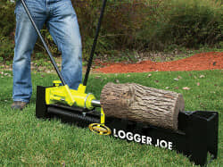 Using a log splitter on logs